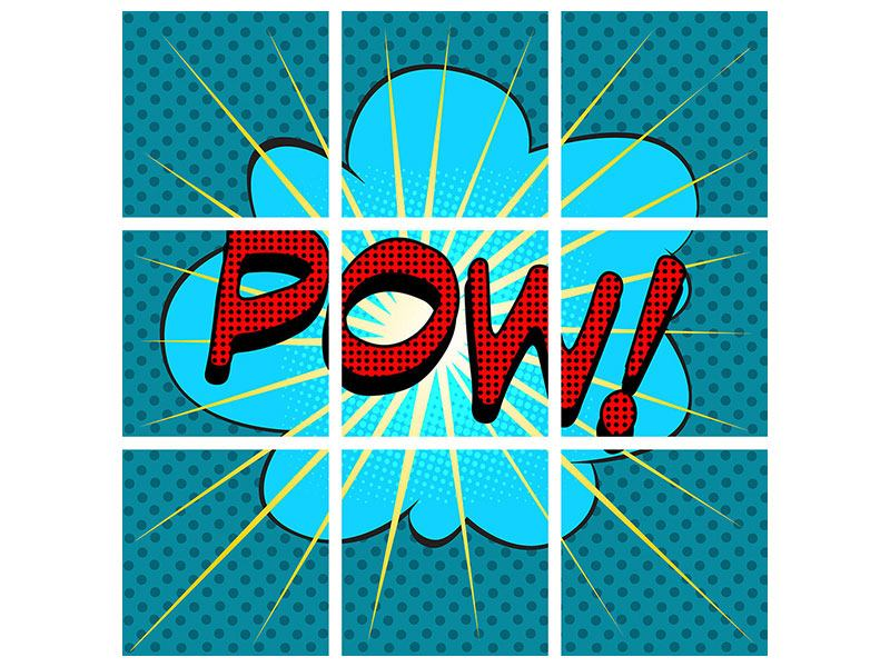 Poster 9-teilig Pop Art Pow