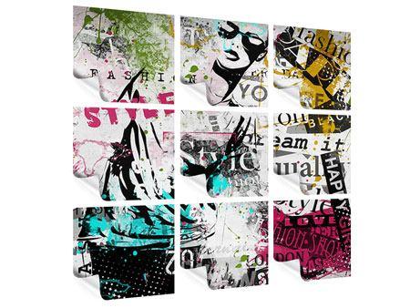 Poster 9-teilig Fashion