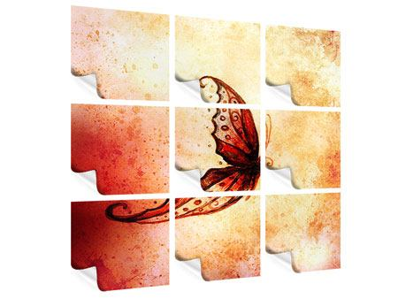 Poster 9-teilig Butterfly Gemälde