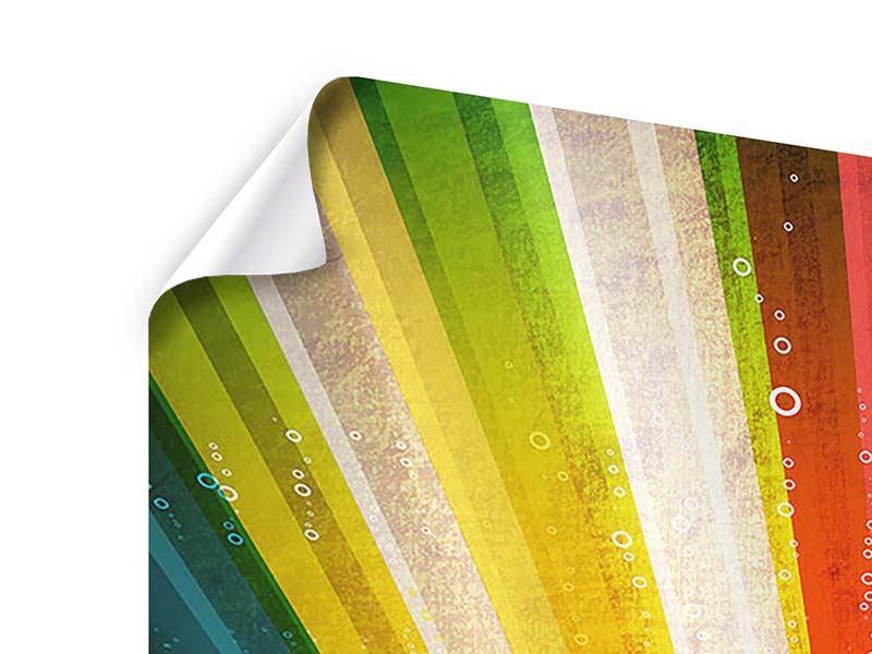 Poster 9-teilig Abstrakte Farbstrahlen