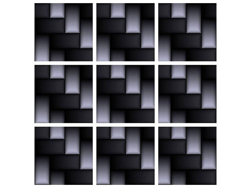 Poster 9-teilig 3D-Treppen