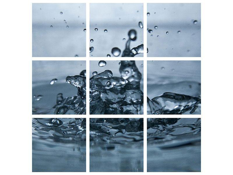 Poster 9-teilig Wassertropfen