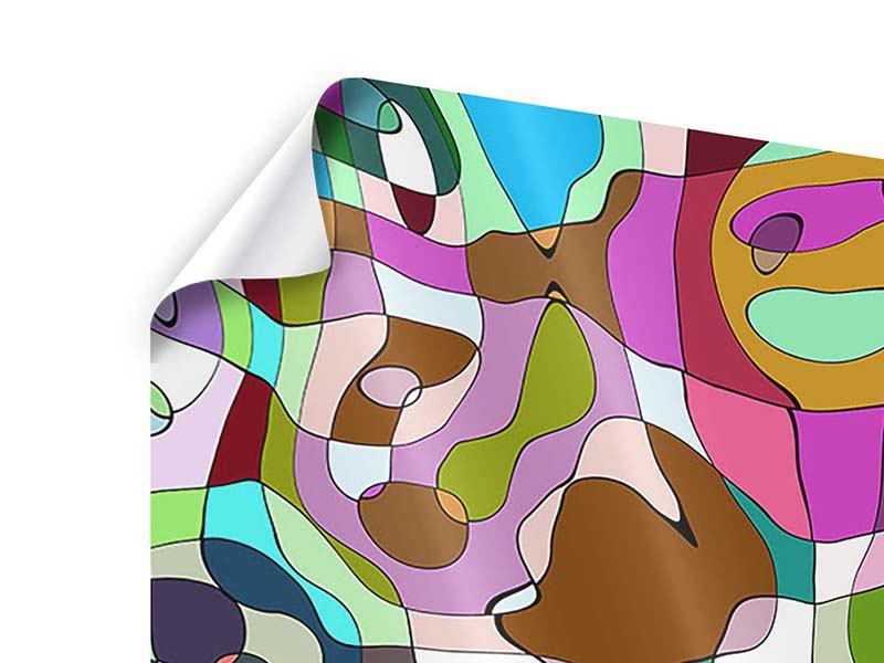 Poster 9-teilig Kubistisches Gemälde