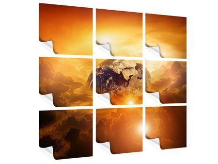 Poster 9-teilig Mystischer Planet Erde