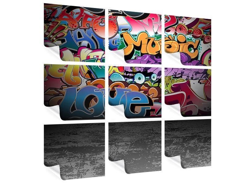 Poster 9-teilig Graffiti-Writing