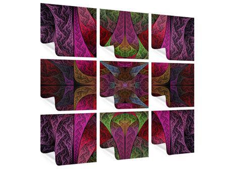 Poster 9-teilig Fraktales Muster