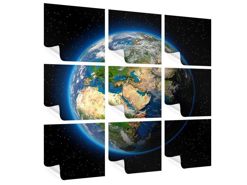 Poster 9-teilig Die Erde als Planet