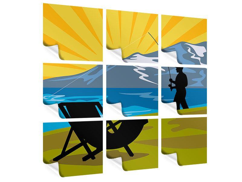 Poster 9-teilig Der Angler