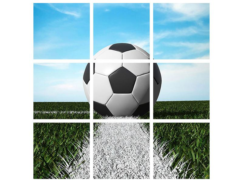 Poster 9-teilig Der Fussball