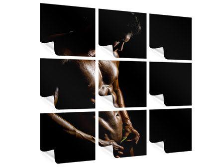 Poster 9-teilig Heisses Männermodel