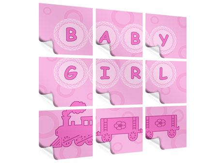 Poster 9-teilig Baby-Girl