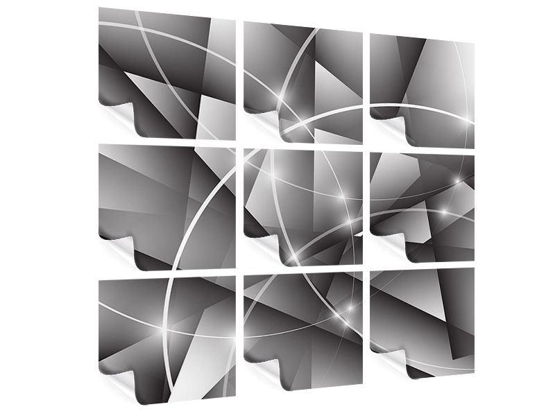 Poster 9-teilig Geometrie