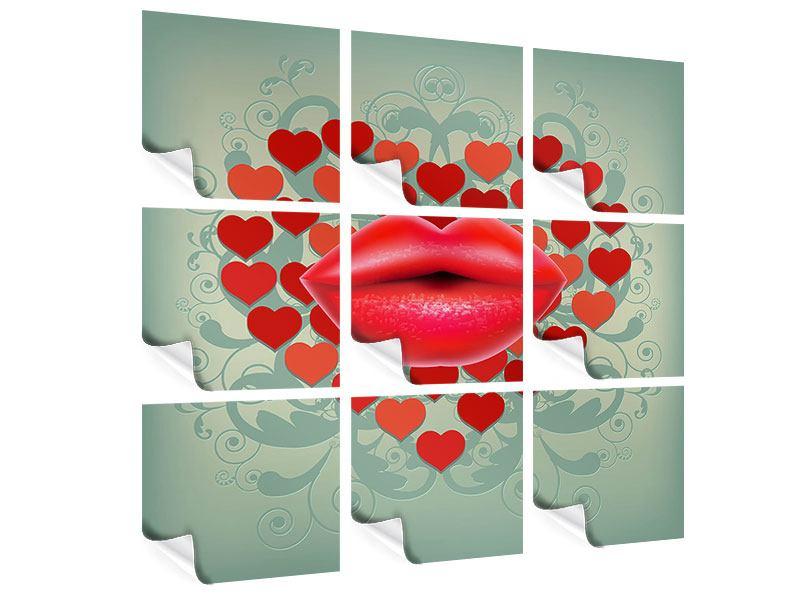 Poster 9-teilig Rote Lippen soll man küssen