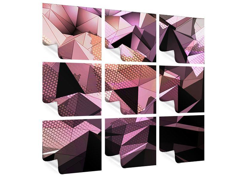 Poster 9-teilig 3D-Kristallstruktur