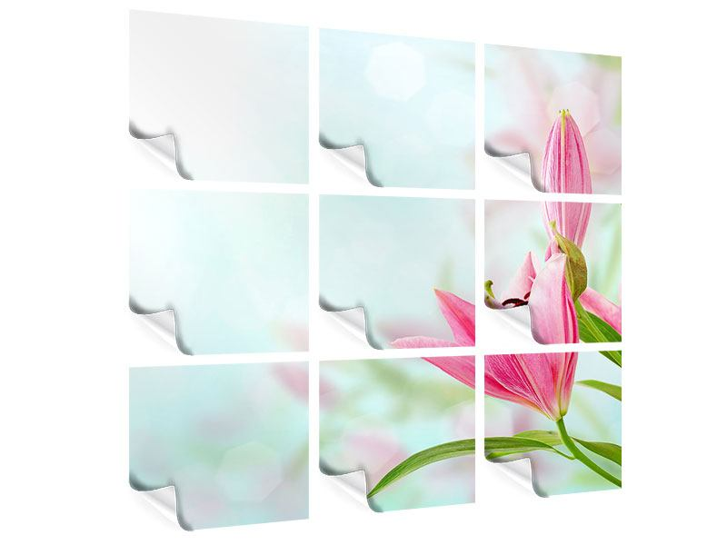 Poster 9-teilig Romantische Lilien
