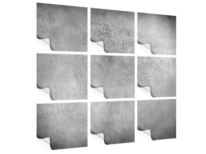 Poster 9-teilig Graue Wandschattierungen