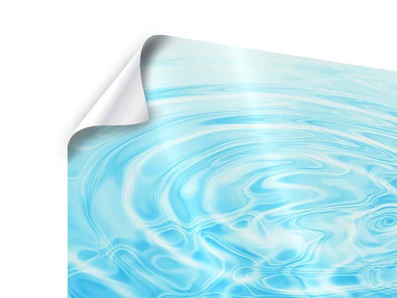 Poster 9-teilig Abstraktes Wasserbad