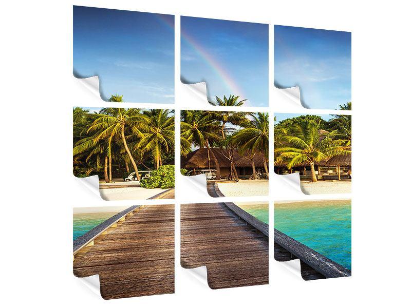 Poster 9-teilig Inselparadies