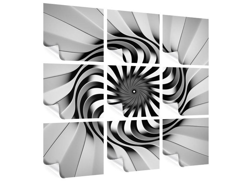 Poster 9-teilig Abstrakte Spirale
