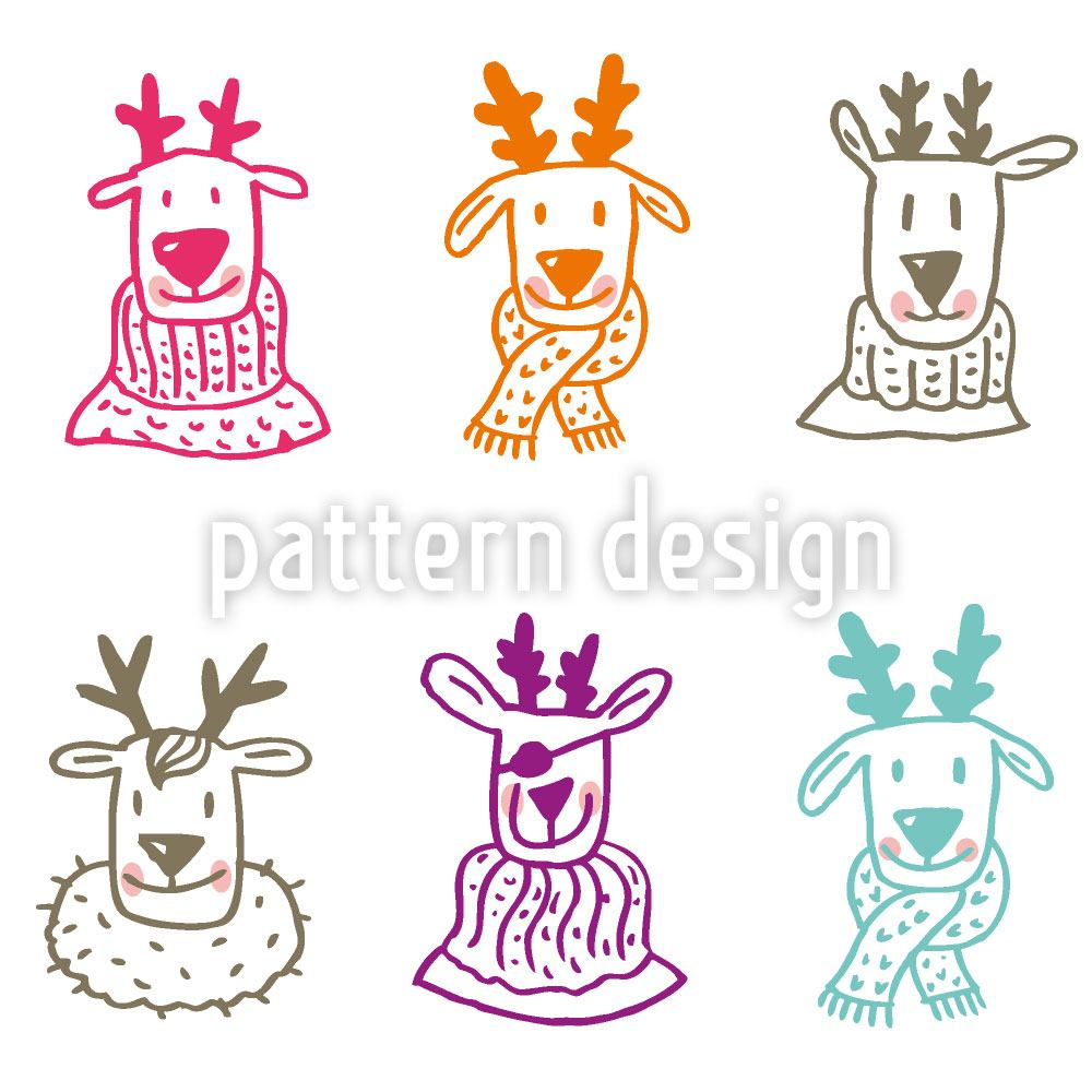 Papier peint design Rudolf And Friends