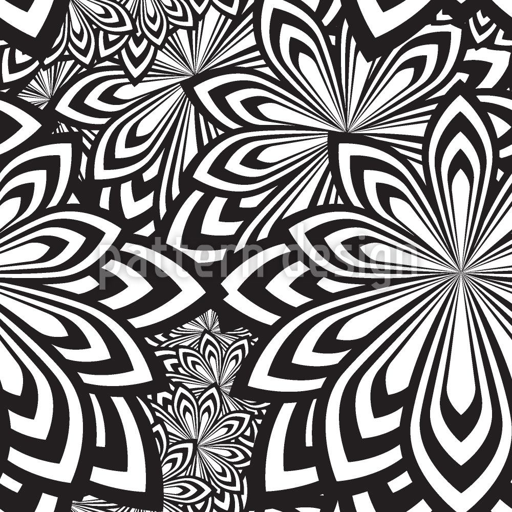 Design Wallpaper Psychedelic Flowers