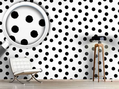 Papier peint design Coal Dots