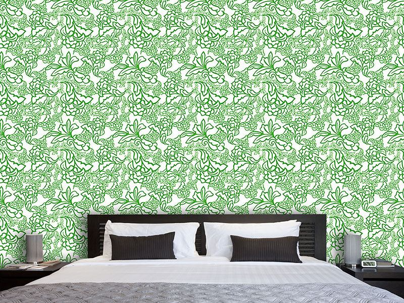 Design Wallpaper Oriental Tendrillars