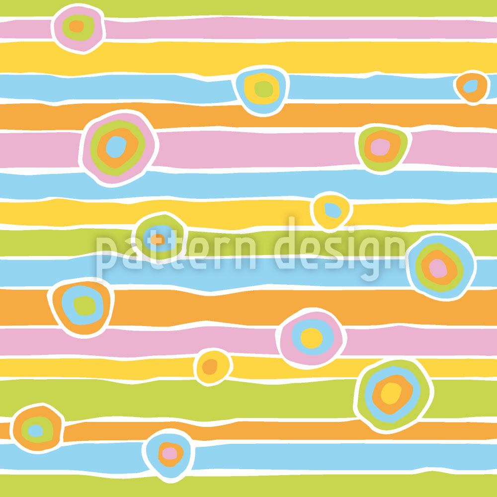 Carta da parati Funny Stripes And Circles