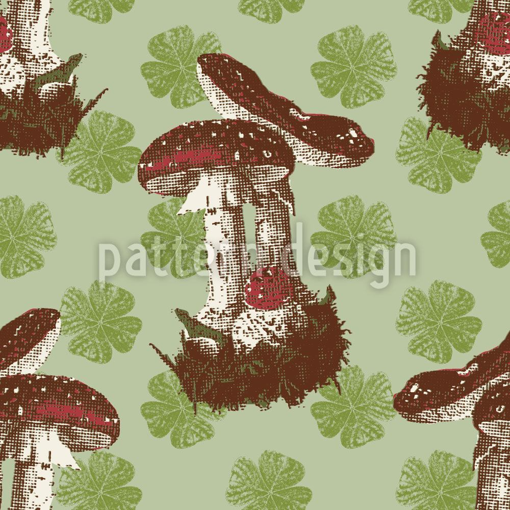 Design Wallpaper The Lucky Mushroom