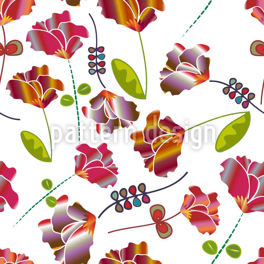 Design Wallpaper Flowers From Peru White