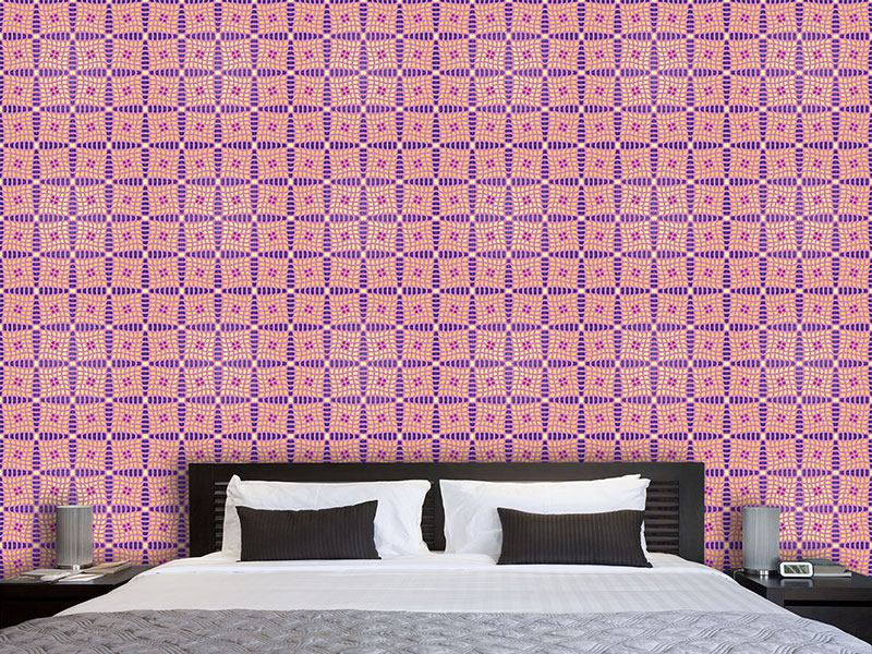 Design Wallpaper Violas Patchwork Quilt