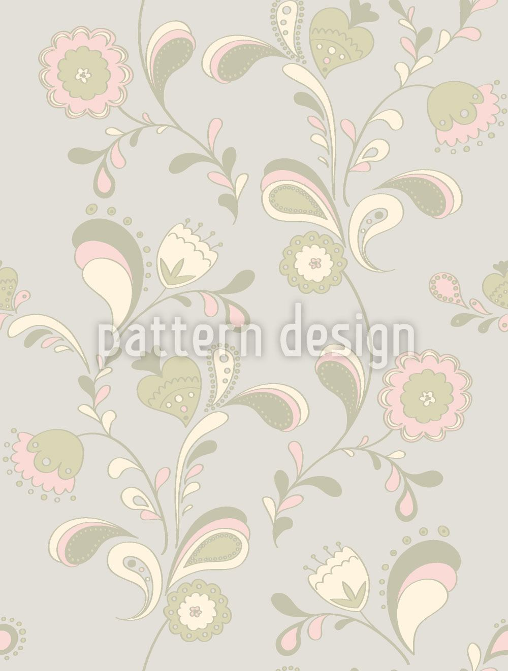 Papier peint design Paisley Flowers By Day
