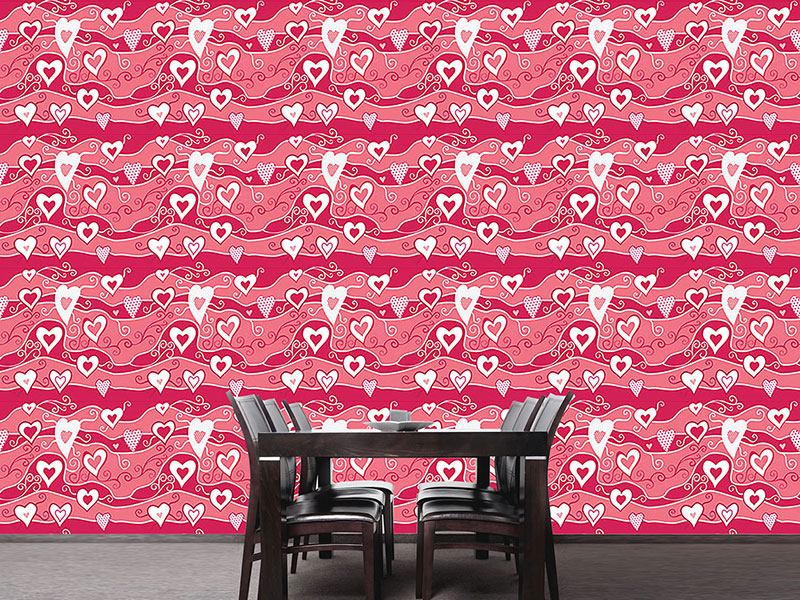 Papel tapiz de diseño Sea Of Hearts