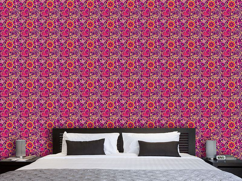 Design Wallpaper Beloved Bird Paradise
