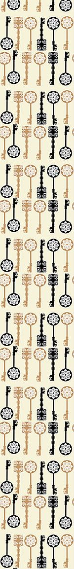 Papier peint design Filigree Keys