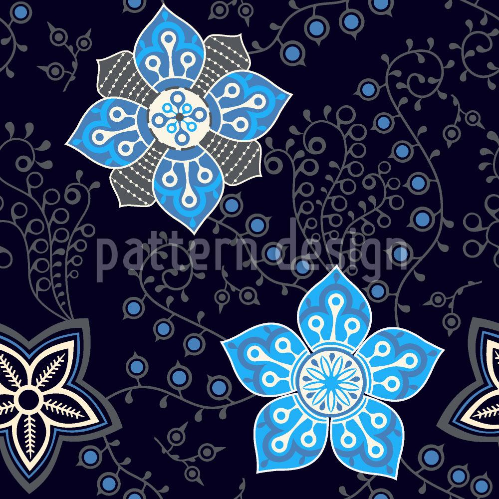 Papier peint design Floral Night Compliments