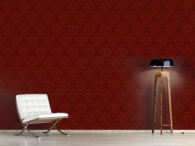 Papier peint design Red French Baroque