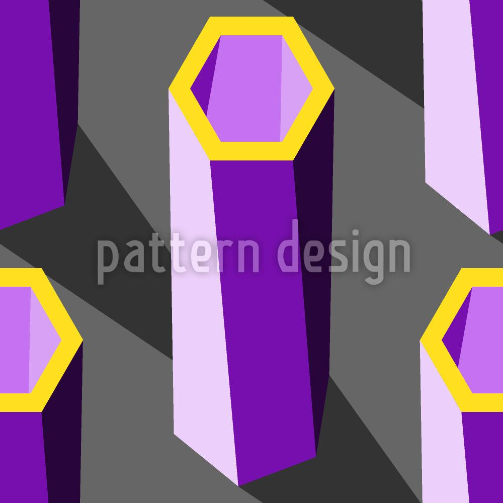 Design Wallpaper Hexagon Pillars