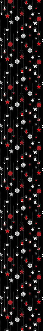 Papier peint design Christmas Tree Balls Black