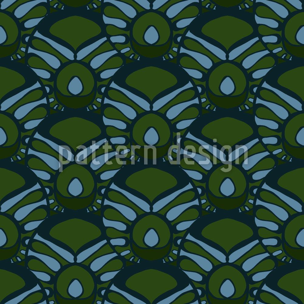 Designtapete Tropical Deco