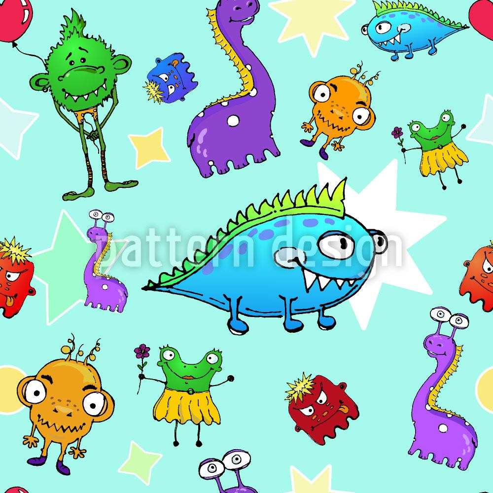 Designtapete Monster Stars