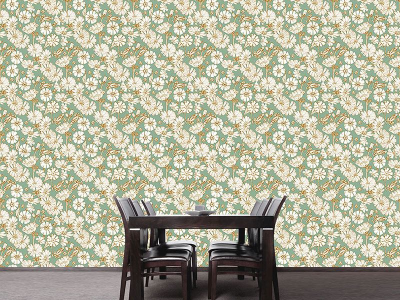 Design Wallpaper Chicory And Bladder Campion