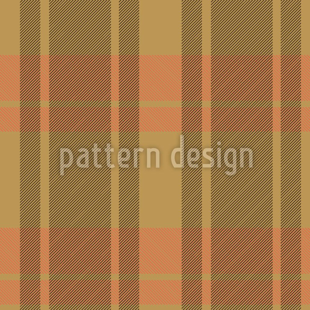 Carta da parati Tartan Brown