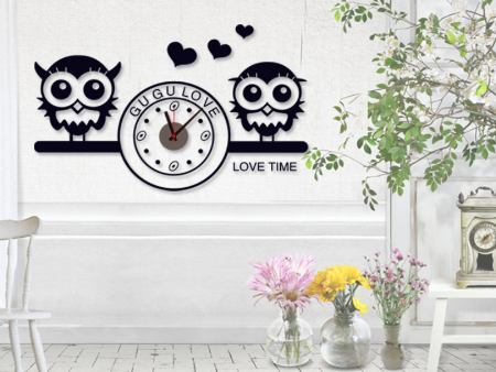 Wall Sticker Love Time Clock