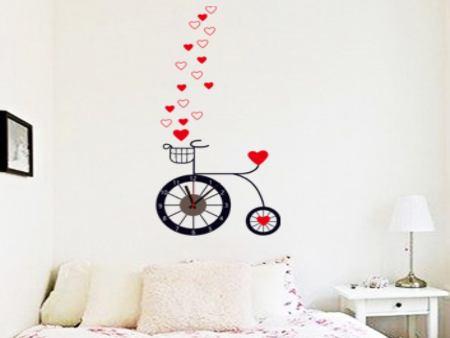 Wandtattoo Fahrrad Uhr