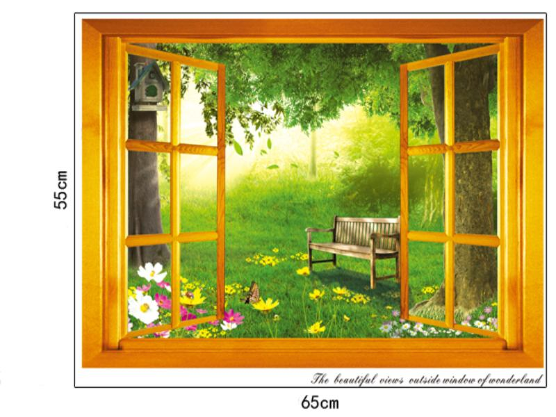 Wandtattoo Fenster zum Garten