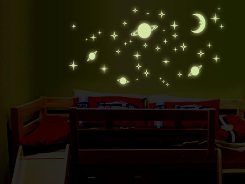 wandtattoo sonne mond sterne. Black Bedroom Furniture Sets. Home Design Ideas