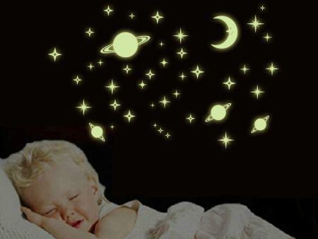 Wandtattoo Sonne, Mond & Sterne
