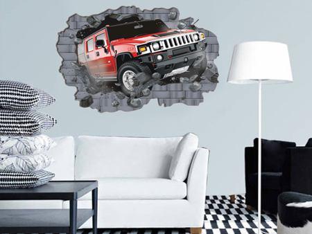 Wandtattoo Jeep Durchbruch
