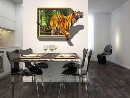 Wandtattoo Tiger Ausbruch